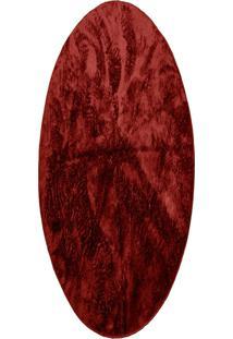Tapete Felpudo Redondo Pelo Baixo 1,50: Vermelho