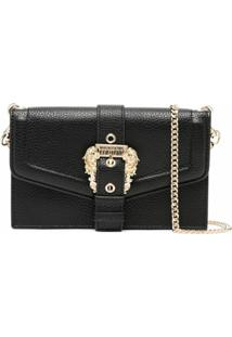 Versace Jeans Couture Buckle-Fastening Shoulder Bag - Preto