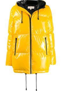 Michael Michael Kors Glossy Puffer Jacket - Amarelo