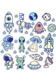 Adesivo De Parede Espaço Viagem Espacial