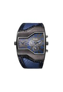 Relógio Masculino Oulm-Hp1220 Analógico - Azul