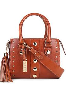 Bolsa Couro Luiza Barcelos Mini Bag Leather Feminina - Feminino-Caramelo