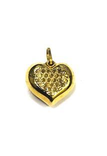Pingente Coração De Ouro - Feminino