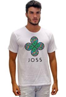 Camiseta Estonada Flor Colorida - Masculino