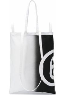 Mm6 Maison Margiela Bolsa Tote Com Estampa De Logo - Branco