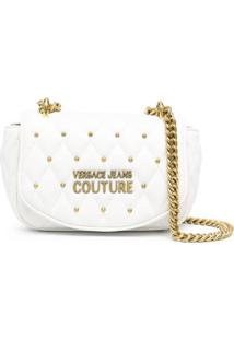 Versace Jeans Couture Logo-Plaque Shoulder Bag - Branco
