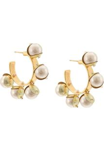 Mignonne Gavigan Mini Delfina Earrings - Branco