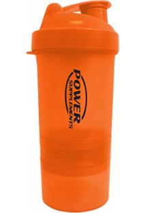 Coqueteleira Power 400Ml Laranja Supplements Power Supplements