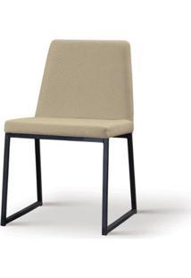 Cadeira Graty Bege Base Preta - 55865 - Sun House