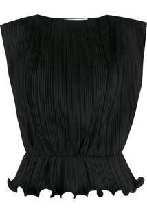 Givenchy Blusa Sem Manga Com Babado - Preto