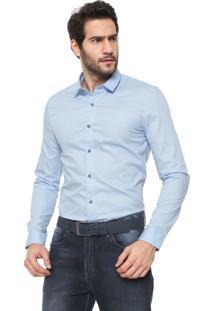 Camisa Calvin Klein Jeans Slim Lisa Azul