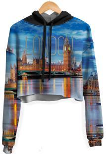 Blusa Cropped Moletom Feminina Over Fame Londres