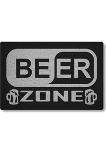 Tapete Capacho Beer Zone - Preto