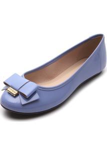 Sapatilha Moleca Laço Azul