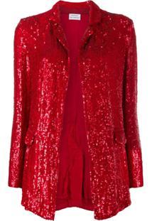 P.A.R.O.S.H. Goody Sequin-Embellished Jacket - Vermelho