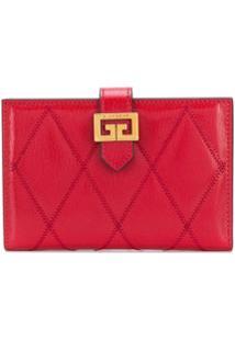 Givenchy Carteira Matelassê 'Gv3' - Vermelho