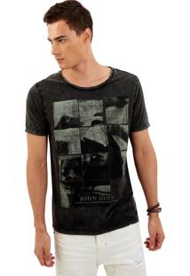 Camiseta John John Rg Puzzle Girl Malha Cinza Masculina Tshirt Rg Puzzle Girl-Cinza Chumbo-P