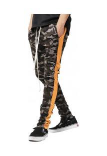 Calça Masculina Camuflagem Army - Laranja