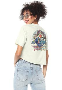 Camiseta Cropped Volcom Made From Smoke Verde