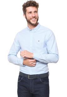 Camisa Tommy Hilfiger Reta Vichy Azul