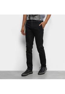 Calça Jeans Ellus 2Nd Floor Storm Elastic (Stefan) Slim Bolso Faca Masculina - Masculino-Azul Escuro