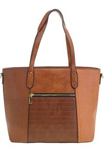 Bolsa Feminina Arara Dourada - T289 Camel
