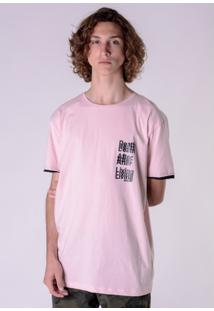 Camiseta Rosa Alongada Death After Living