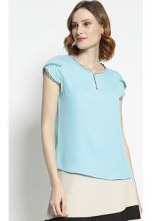 Blusa Com Passamanaria- Azul Claro- Milioremiliore