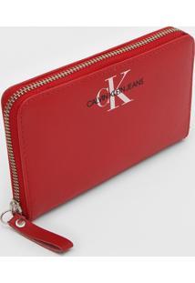 Carteira Calvin Klein Logo Vermelha - Kanui