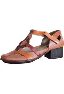 89ce940700 ... Sapato Boneca Salto Grosso Quadrado Estilo Retrô Vintage Caramelo
