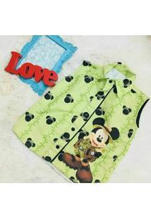 Camisa Regata Mickey Safari