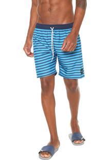 Bermuda Água Oakley Reta Striped Azul