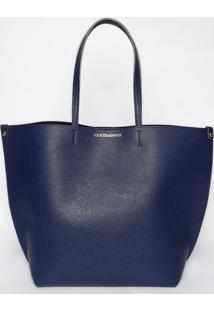 Bolsa Texturizada- Azul Marinho- 42X49X20Cmloucos E Santos