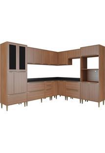 Cozinha Compacta Multimoveis Calabria 5461 Nogueira Se
