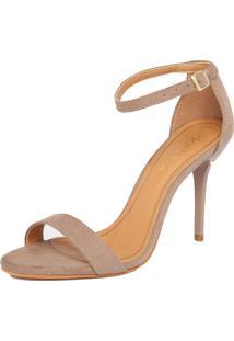 Sandália Dafiti Shoes Suede Fendi Bege