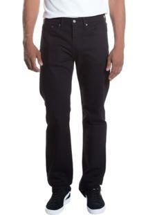 Calça Jeans 514 Straight Levis Masculina - Masculino-Preto