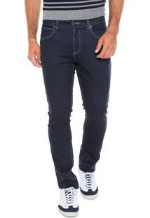 Calça Jeans Lacoste Slim Lisa Azul