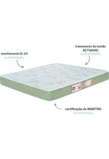 Colchão De Casal Sleep Max D33 138X188X18 Verde Castor Couros
