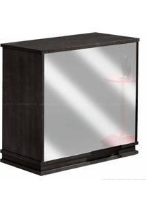 Bar Para Sala Com Espelho 811 100% Mdf Tabaco - Móveis Forini