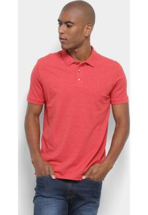 Camisa Polo Reserva Novo Mescla Básica Masculina - Masculino-Vermelho
