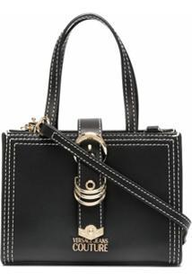 Versace Jeans Couture Bolsa Tote Com Fivela - Preto