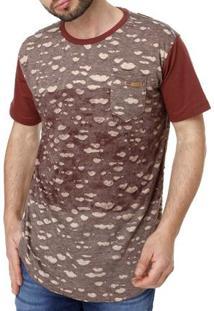 Camiseta Manga Curta Masculina Dixie Vinho