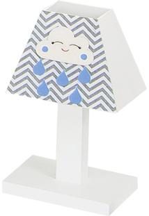 Abajur Dôda Baby Nuvem Azul Bebê Mdf