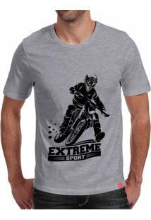 Camiseta Casual Sport Extreme Sport Cinza