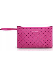 Necessaire Com Alça Tam. G Estampa Coração Jacki Design Pink Lover Pink