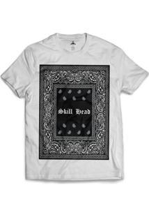 Camiseta Skill Head Square Bandana - Masculino-Branco
