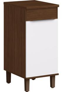 Balcão De Cozinha 40,2 Cm 1 Porta Cs602P Cacau/Branco - Decibal Móveis