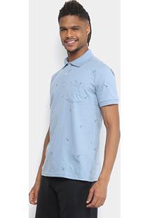 Camisa Polo Tigs Malha Âncoras Masculina - Masculino-Azul Claro