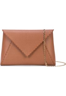 Tyler Ellis Clutch Envelope Lee - Marrom