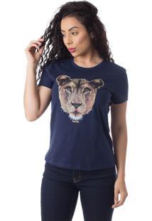 Camiseta Familia Leoa Thiago Brado 6027000001 Marinho - Azul Marinho - Feminino - Dafiti